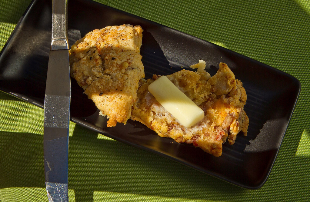 The Bacon and Cheddar Scone at Sweetwater Cafe in Mill Valley, Calif., is seen on Saturday, June 30th, 2012.