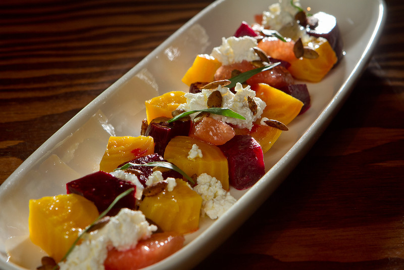 The roasted organic heirloom Beets at Tacolicious in San Francisco Calif., is seen on Monday, March 5th, 2012.