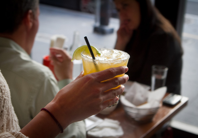A Margarita on the way to a table at Tacolicious in San Francisco Calif., is seen on Monday, March 5th, 2012.