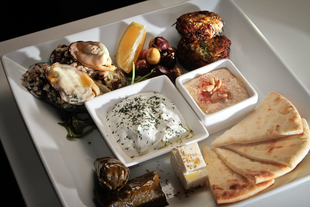 The Meze Plate at Tarla Mediterranean Grill in Napa,  Calif., is seen on Friday, March 9th, 2012.