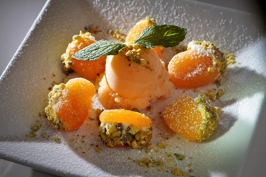 The stuffed Turkish Apricots at Tarla Mediterranean Grill in Napa,  Calif., is seen on Friday, March 9th, 2012.