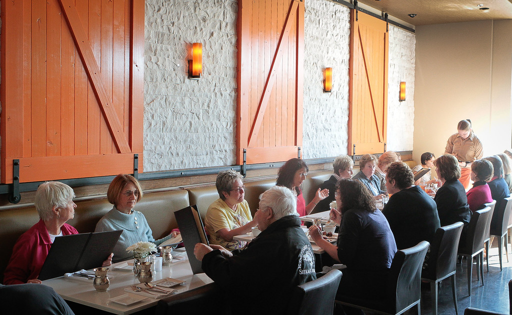 Diners enjoy lunch at Tarla Mediterranean Grill in Napa,  Calif., on Friday, March 9th, 2012.