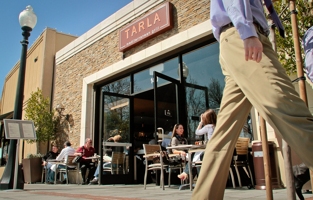 The exterior of Tarla Mediterranean Grill in Napa,  Calif., is seen on Friday, March 9th, 2012.