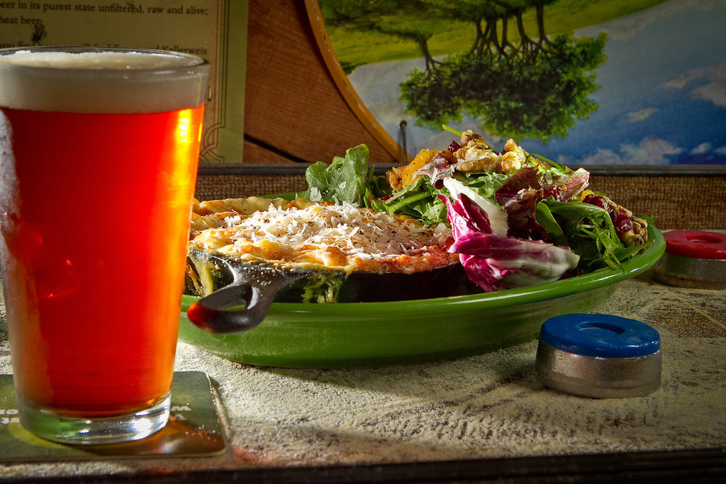 The Mac and Cheese with a beer at theTee Off Bar & Grill in San Francisco, Calif., is seen on Saturday, June 9th, 2012.