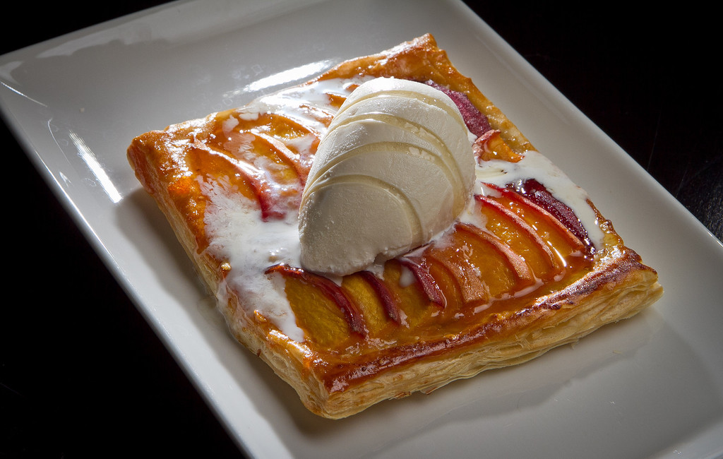 The warm Stone Fruit Tart at Terrapin Crossroads in San Rafael, Calif., is seen on Sunday, August 19th, 2012.