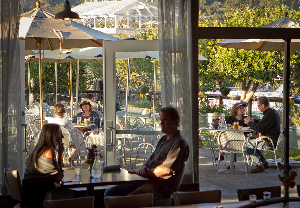 The patio as seen from the dining room at Terrapin Crossroads in San Rafael, Calif., on Sunday, August 19th, 2012.