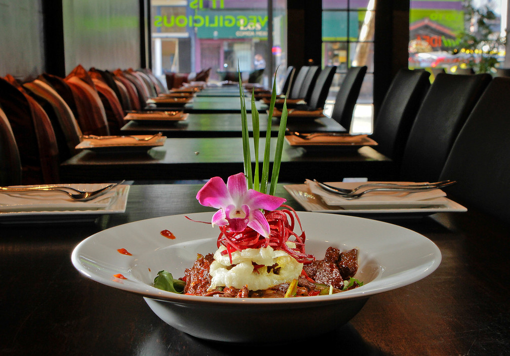 The Volcanic Beef at Thai Idea in San Francisco, Calif., is seen on Saturday, November 10th, 2012.