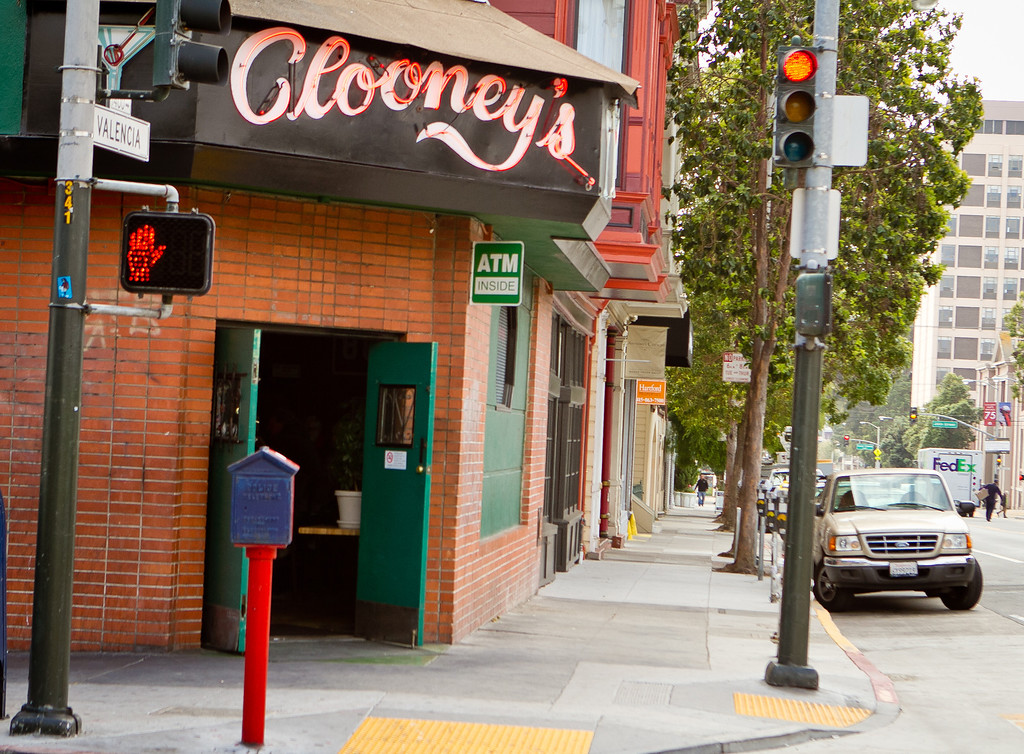 The exterior of Clooney's Bar in San Francisco, Calif., is seen on Tuesday,  August 30th, 2012.