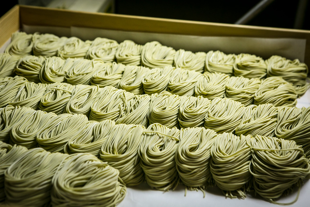 Freshly made Ramen noodles at the Ramen Shop in Oakland, Calif. are seen on Friday, February 15th, 2013.