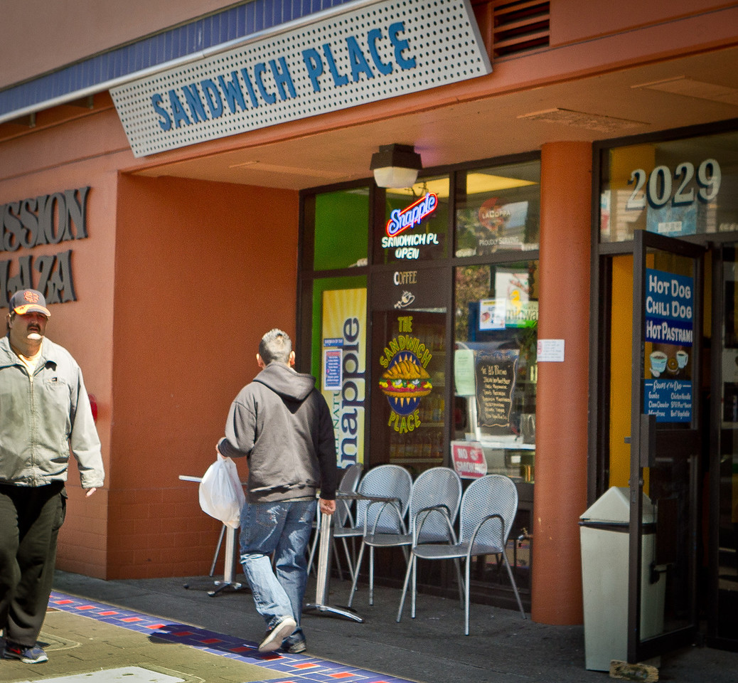 The exterior of the Sandwich Place in San Francisco, Calif. is seen on April 5th, 2012.