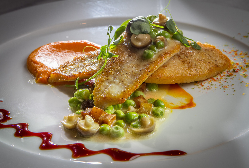The John Dory entree at The Sea restaurant in Palo Alto, Calif., is seen on Saturday, January 12th, 2013.