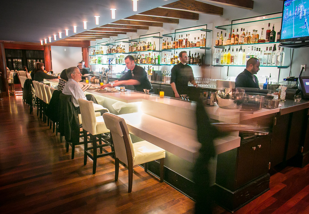 The bar at The Sea restaurant in Palo Alto, Calif., is seen on Saturday, January 12th, 2013.
