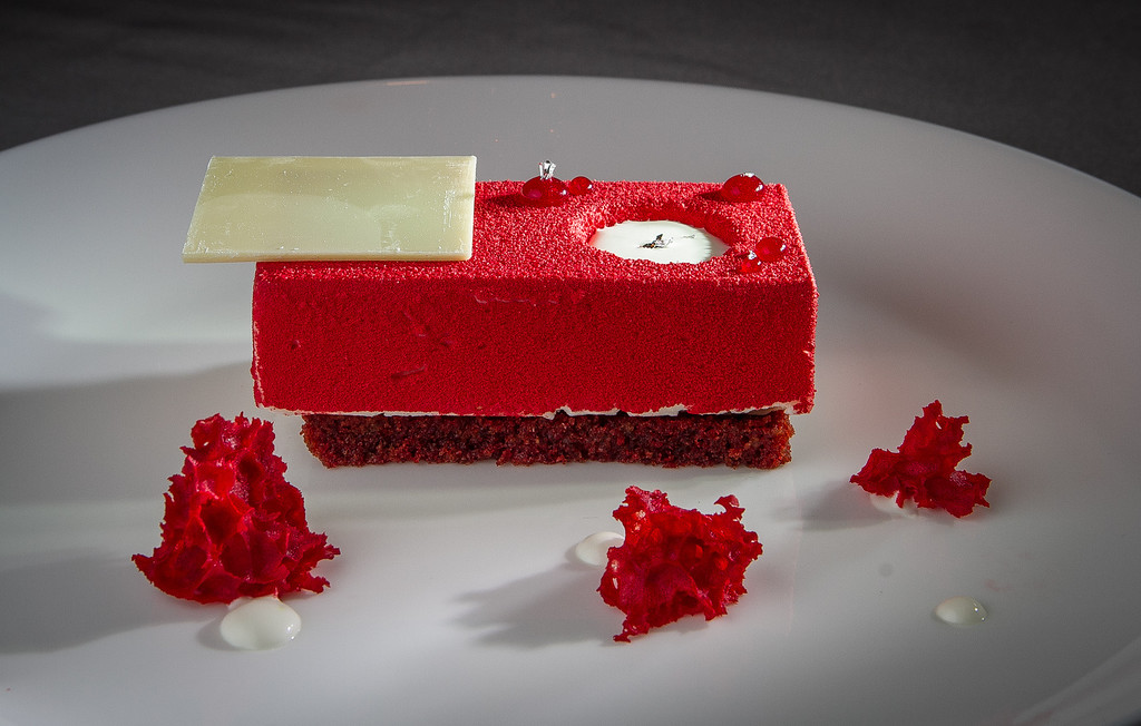 The Red Velvet Dessert at The Sea restaurant in Palo Alto, Calif., is seen on Saturday, January 12th, 2013.