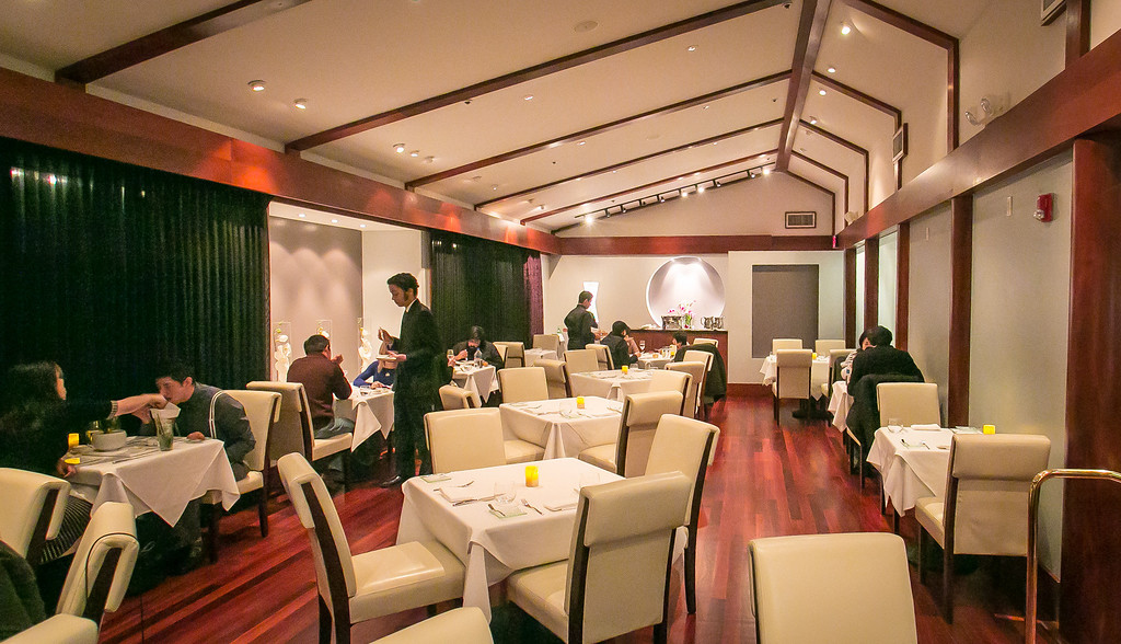 One of the dining rooms at The Sea restaurant in Palo Alto, Calif., is seen on Saturday, January 12th, 2013.
