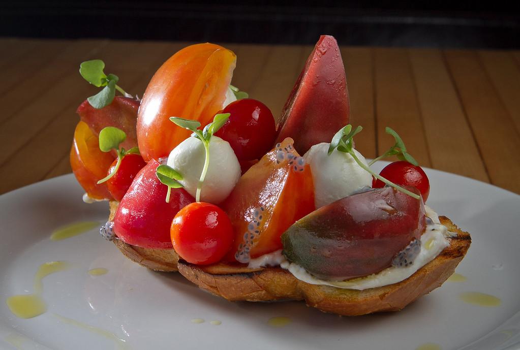 The Heirloom Tomato Salad at The Thomas restaurant, Calif., is seen on Thursday, November 1st, 2012.