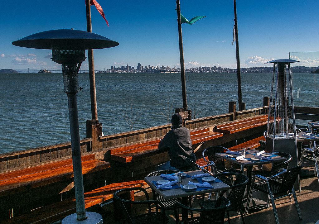 The deck at the Trident restaurant in Sausalito, Calif. is seen on Tuesday, December 18th, 2012.