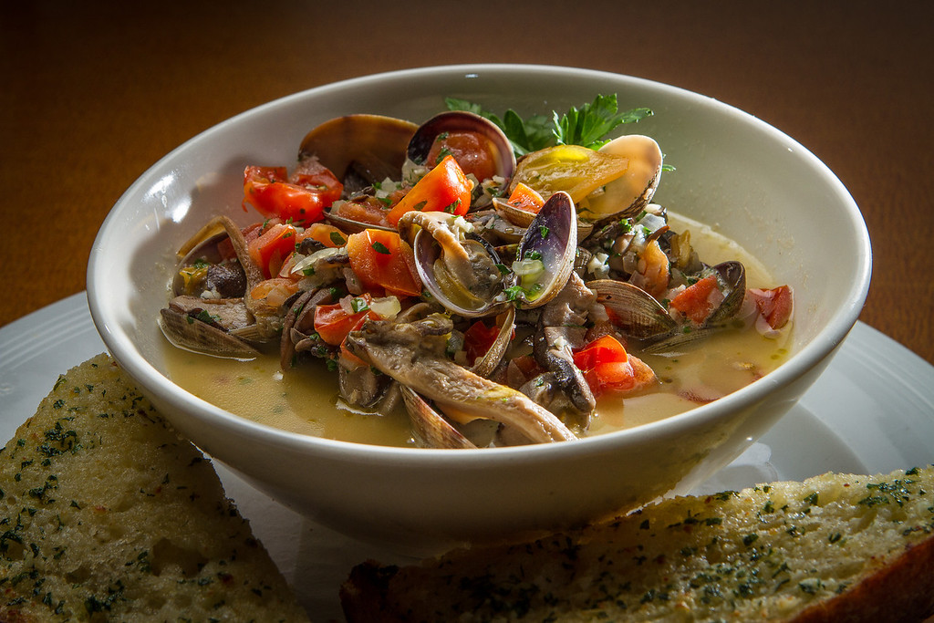 The steamed Clams at the Trident restaurant in Sausalito, Calif. is seen on Saturday, December 15th, 2012.