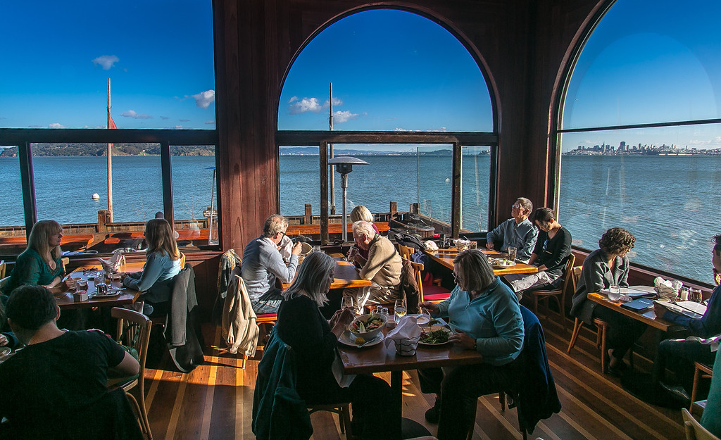 Diners enjoy lunch at the Trident restaurant in Sausalito, Calif. on Tuesday, December 18th, 2012.