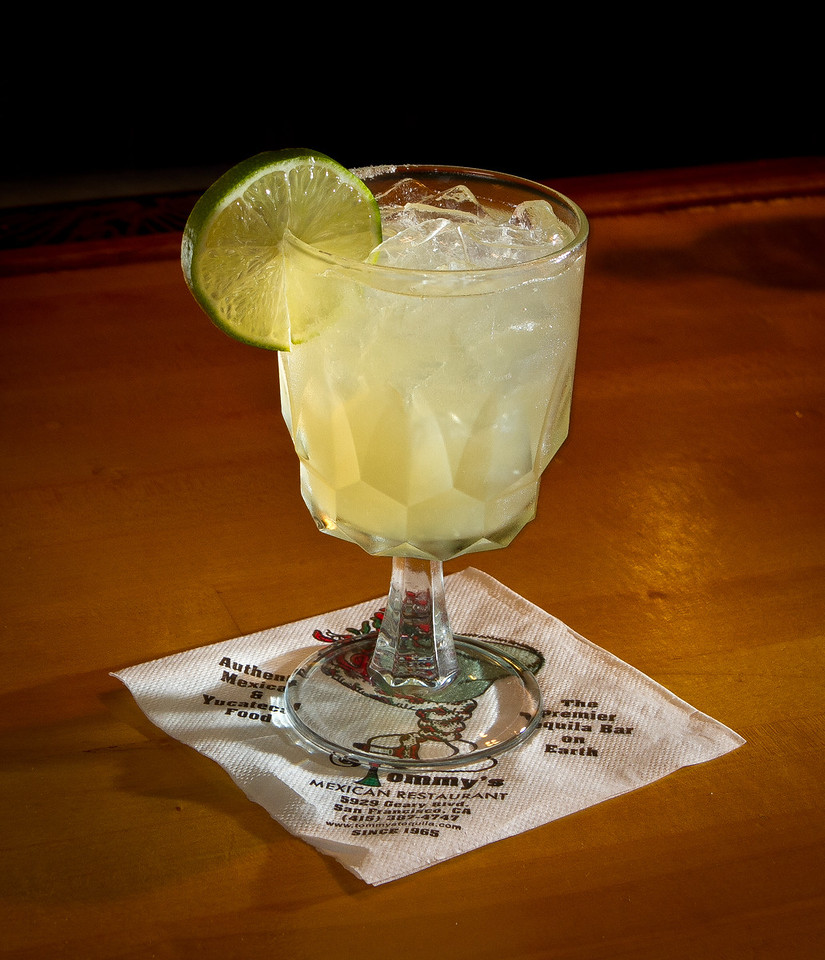 """The """"on the rocks"""" Margarita at Tommy's Mexican Restaurant in San Francisco, Calif., is seen on Monday April 23rd, 2012."""