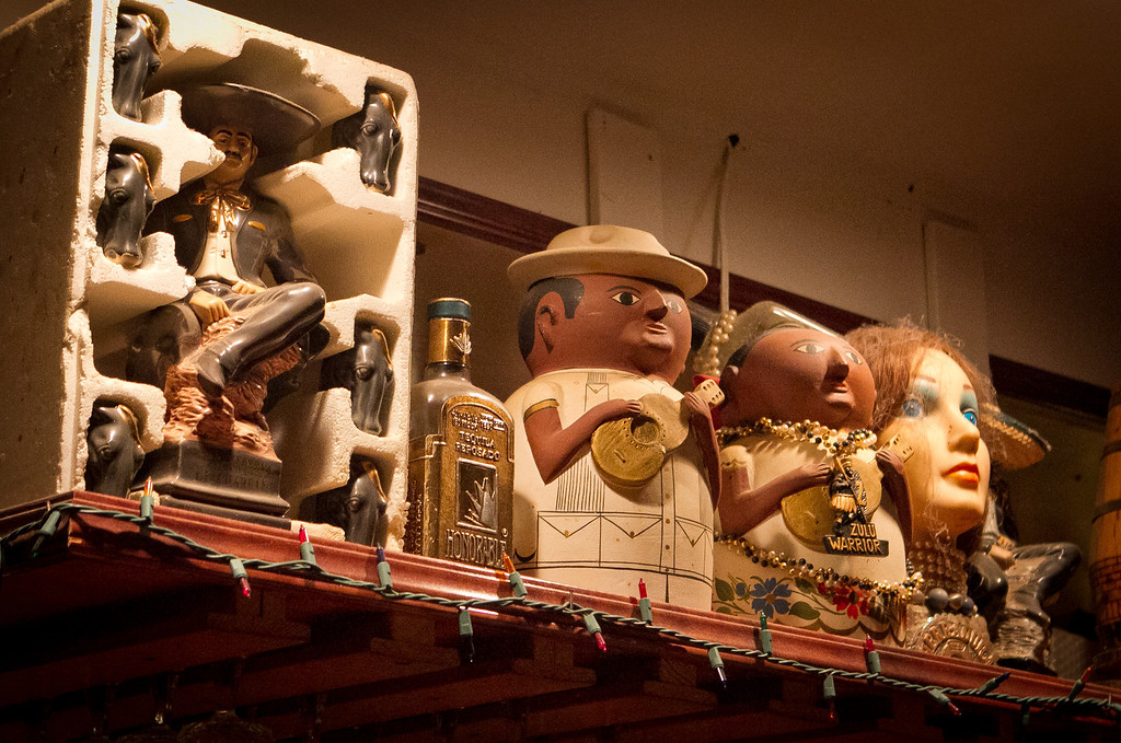 Some nicknacks above the bar at Tommy's Mexican Restaurant in San Francisco, Calif., are seen on Monday April 23rd, 2012.