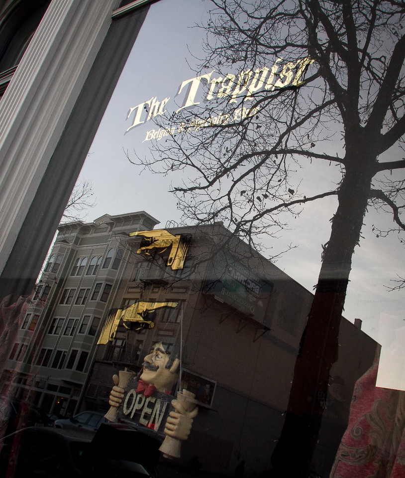 The exterior of  Trappist Bar in Oakland, Calif.,  is seen on Tuesday, December 20th,  2011.