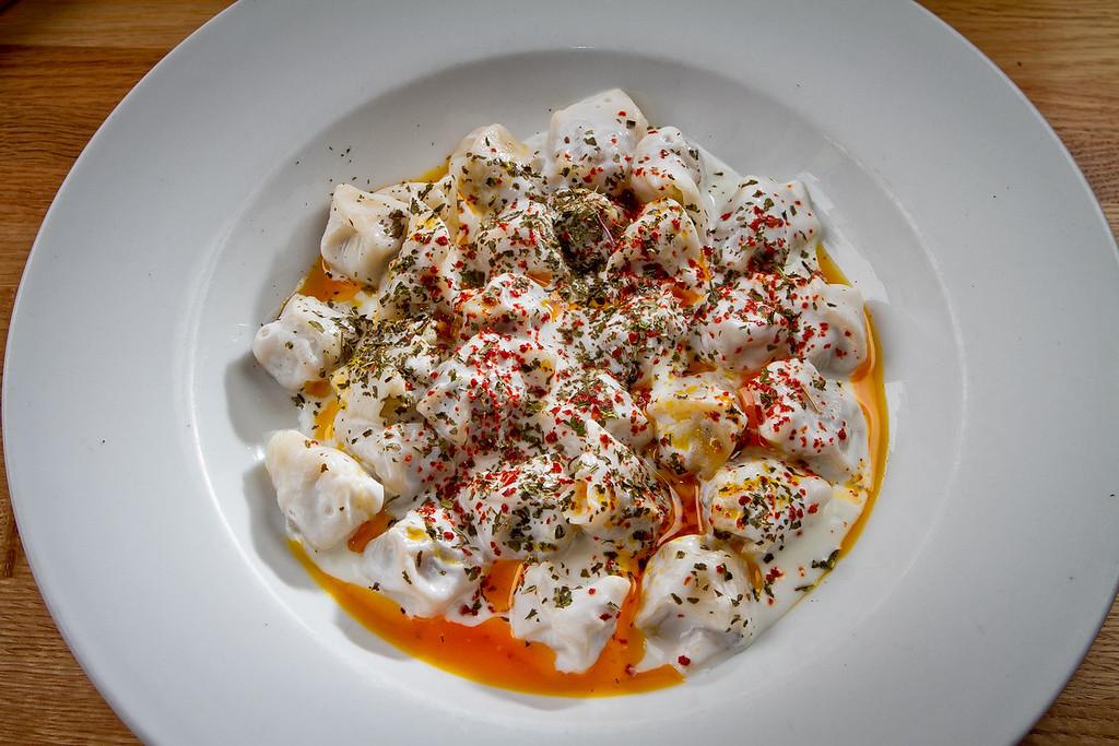 The Turkish Beef Dumplings at Troya Mediterranean Kitchen in San Francisco, Calif., is seen on Saturday,  August 25th, 2012.