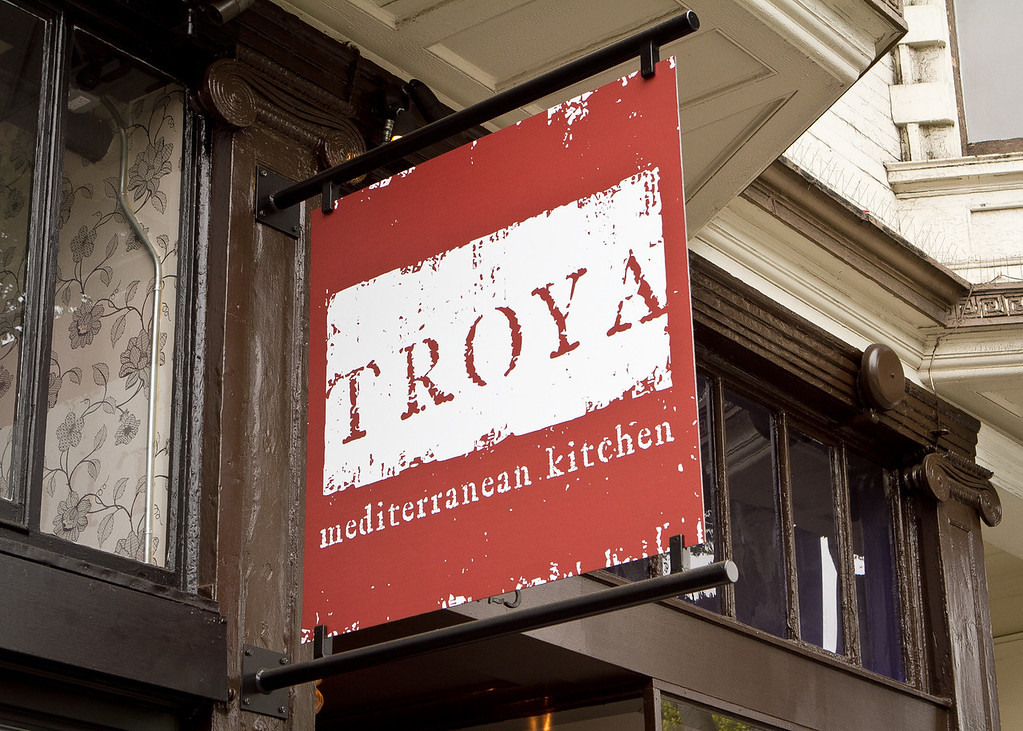 The exterior of Troya Mediterranean Kitchen in San Francisco, Calif., is seen on Saturday,  August 25th, 2012.