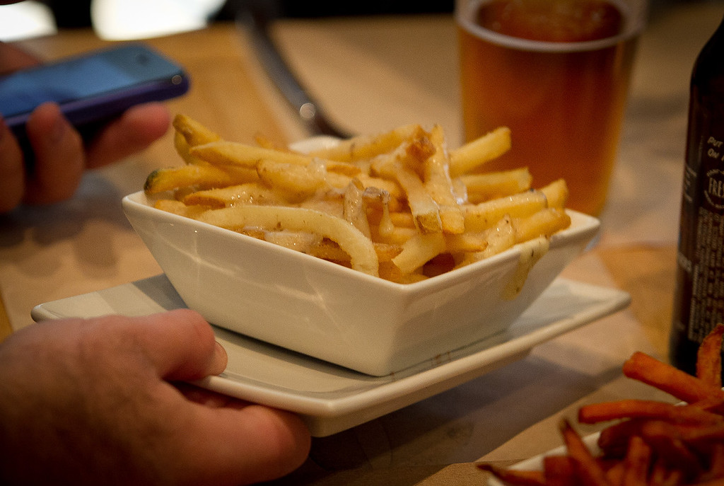 Thin Fries at Umami Burger in San Francisco, Calif., are seen on Sunday, January 8th,  2012.
