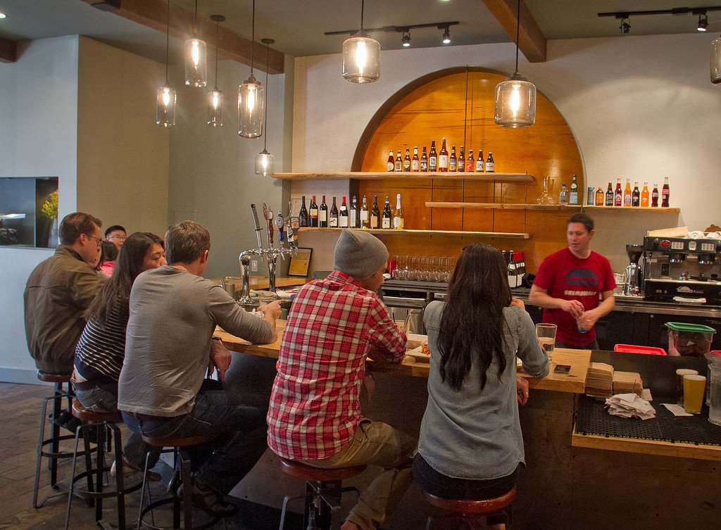 The bar at Umami Burger in San Francisco, Calif., is seen on Sunday, January 8th,  2012.