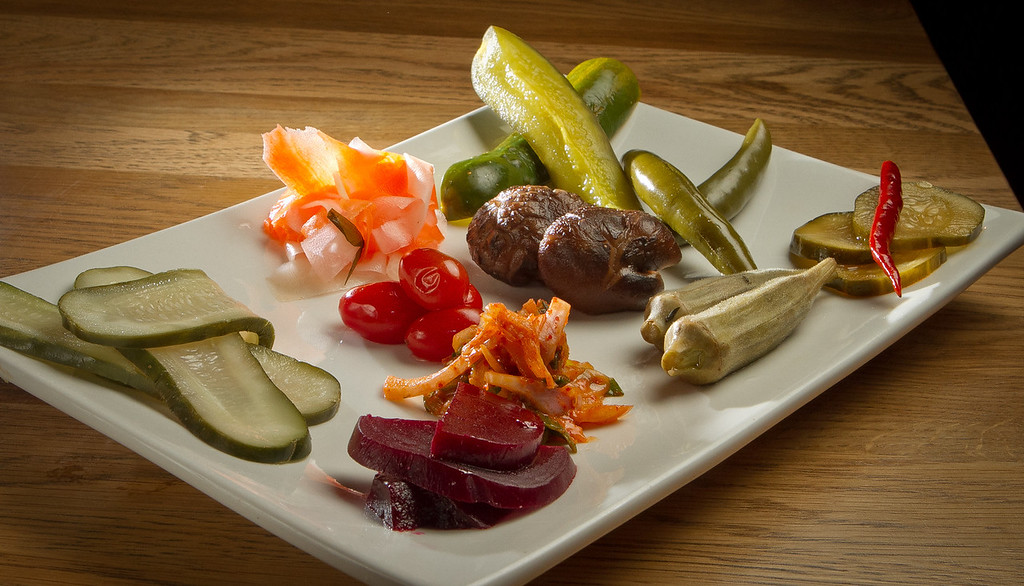 The Pickle Plate at Umami Burger in San Francisco, Calif., is seen on Sunday, January 8th,  2012.