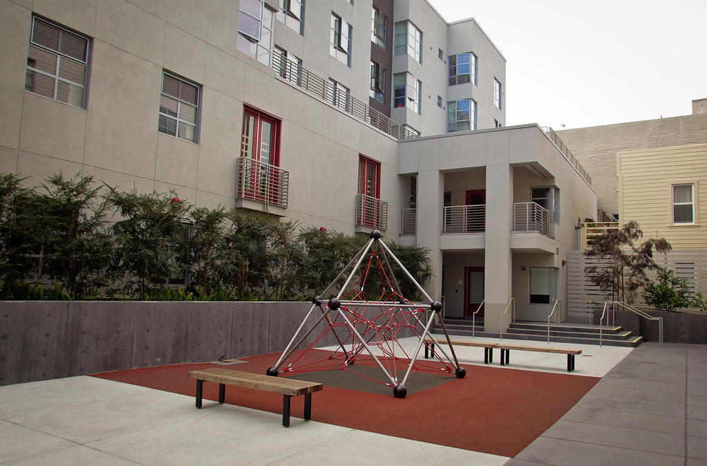 The children's playground at Westbrook Plaza low income housing complex in San Francisco, Calif., is seen on October 4th, 2012. Thirteen residences throughout San Francisco will fling open their doors for city residents to tour them on Saturday afternoon.