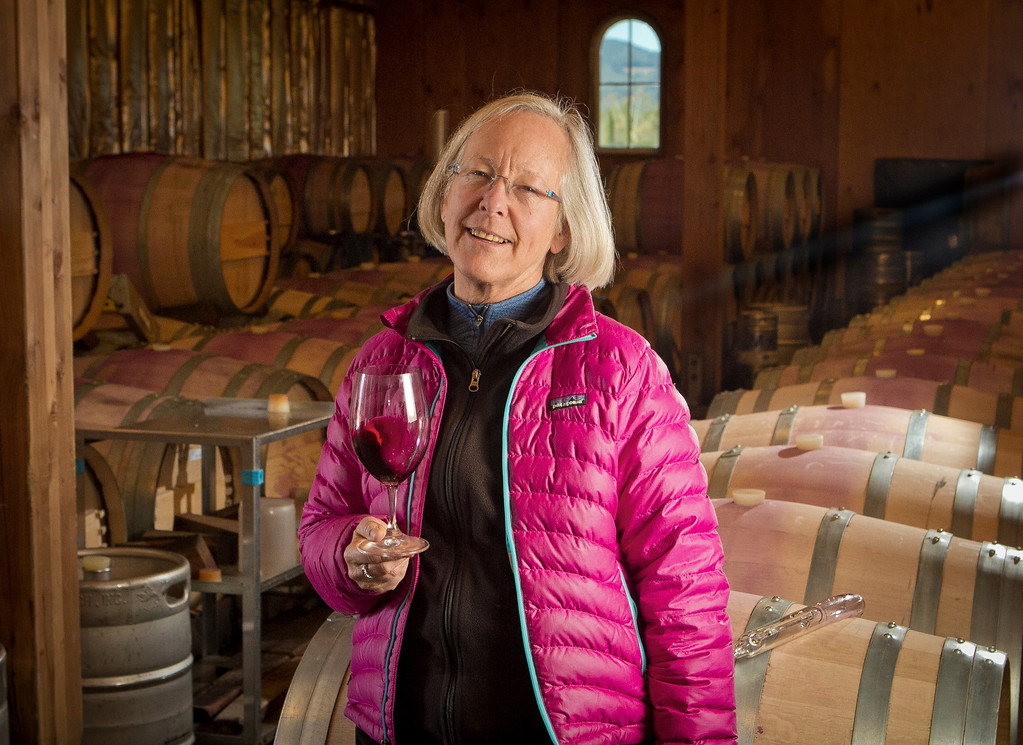 Winemaker Cathy Corison at her winery in St. Helena, Calif., on Friday, December 16, 2011.