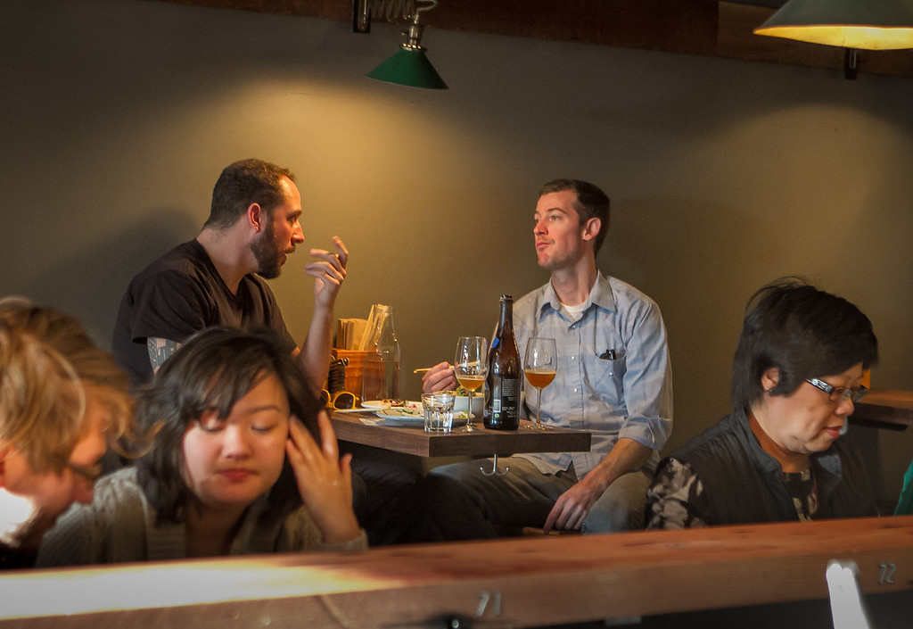 People enjoy Ramen for dinner at the  Ramen Shop in Oakland, Calif. on Friday, February 15th, 2013.
