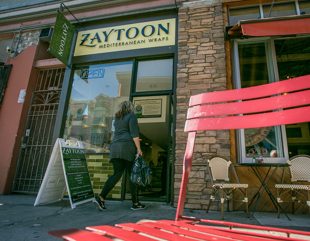 The exterior of Zaytoon Restaurant in San Francisco, Calif. is seen on Friday, February 15th, 2013.