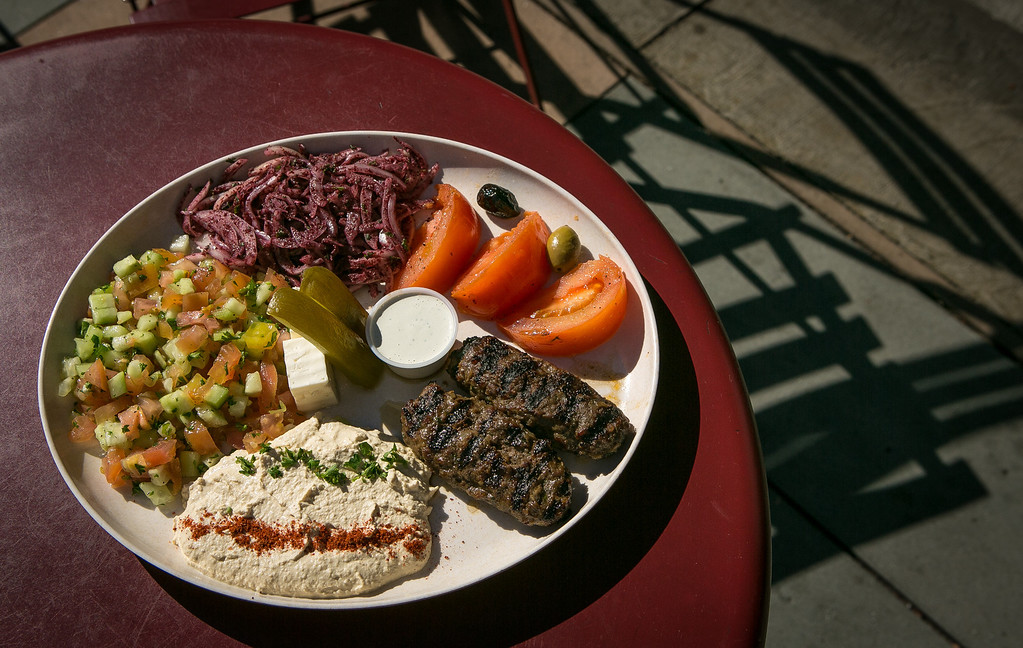 The Kebab platter at Zaytoon Restaurant in San Francisco, Calif. is seen on Friday, February 15th, 2013.