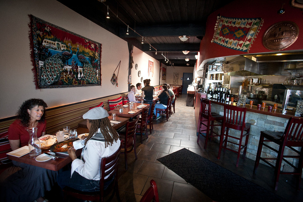Diners Enjoy Their Food At Anatolian Kitchen In Palo Alto, Calif., On July