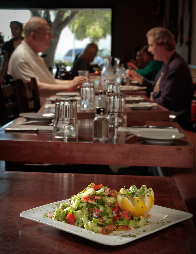 The Shepherdu0027s Salad At Anatolian Kitchen In Palo Alto, Calif., Is Seen On