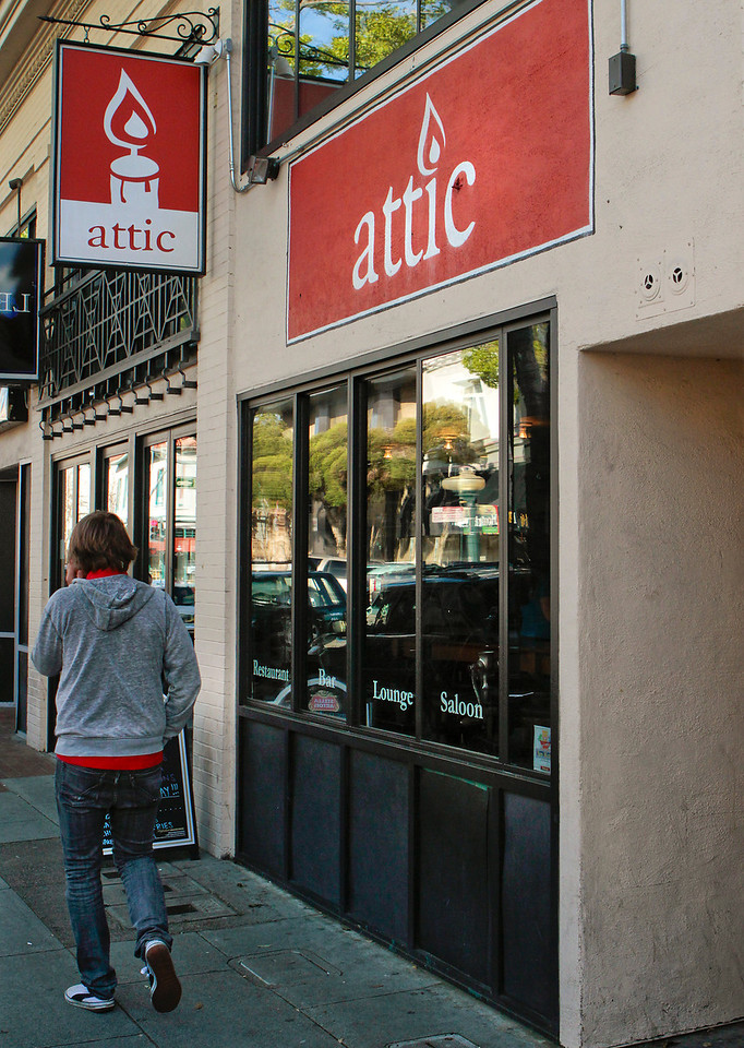 The exterior of the Attic restaurant in San Mateo, Calif. is seen on Thursday, April 7th,  2011.