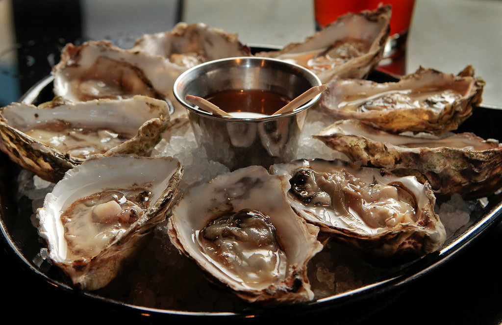 Oysters on the half shell at the Attic restaurant in San Mateo, Calif. is seen on Thursday, April 7th,  2011.