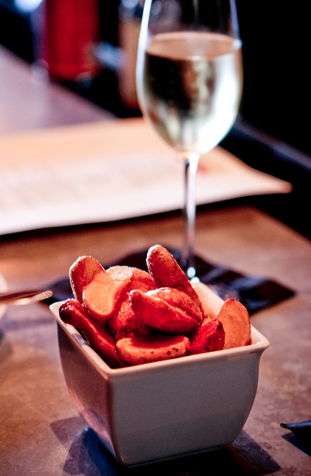 The fried Fingerling Potatoes at Bar Terra in St. Helena, Calif., is seen on July 15th, 2011.