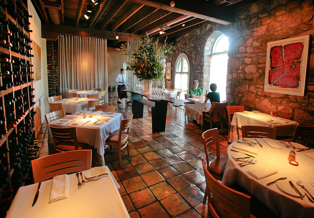 The interior of Terra Restaurant in St. Helena, Calif., is seen on July 15th, 2011.