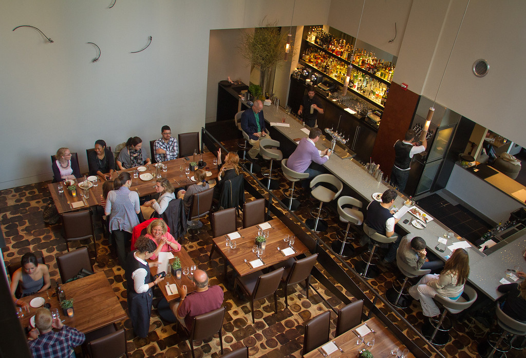The downstairs dining room and the bar at Bluestem Restaurant in San Francisco, Calif., is seen on August 9th, 2011.
