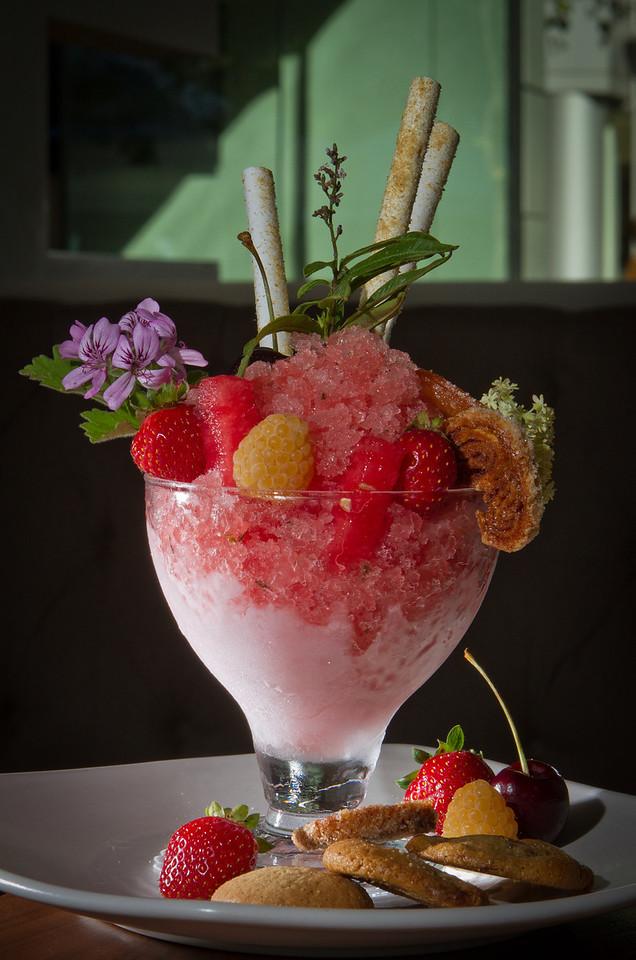 The Watermelon Granita dessert at Bluestem Restaurant in San Francisco, Calif., is seen on August 9th, 2011.