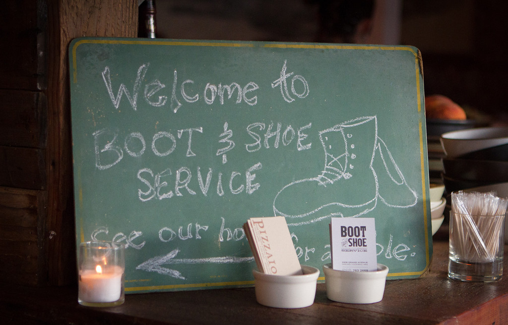 Boot and Shoe Service restaurant in Oakland, Calif., is seen on September 7th, 2011.