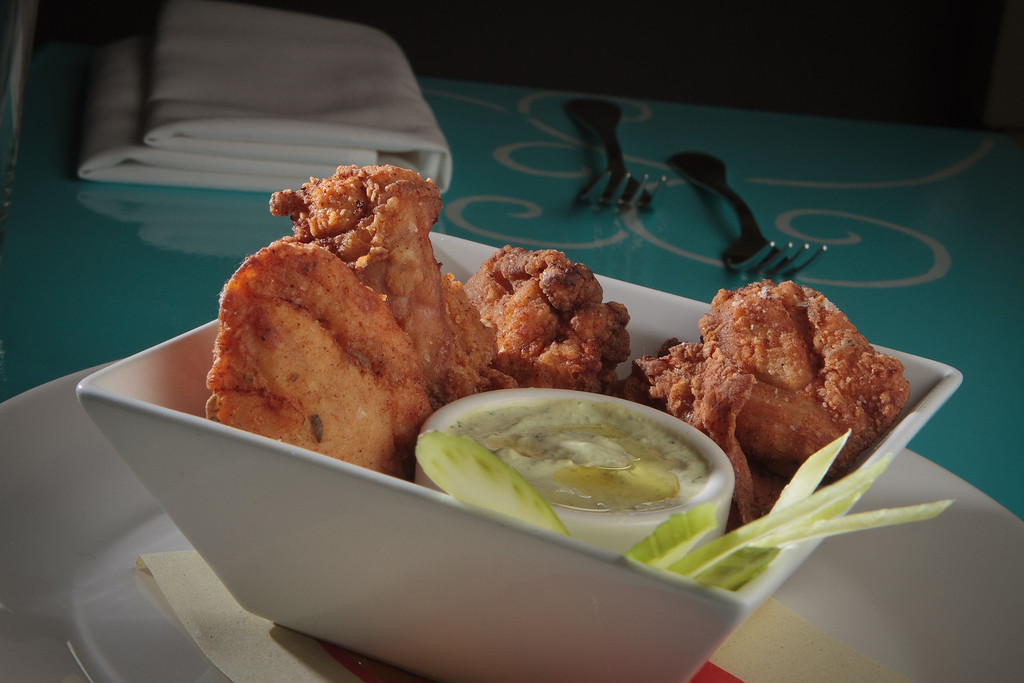 The Fried Chicken Thighs at Bottle Cap Restaurant in San Francisco, Calif., is seen on August 23rd, 2011.