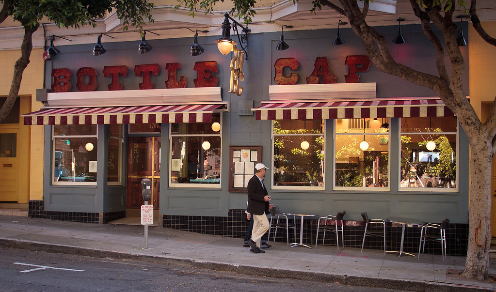 The exterior of Bottle Cap Restaurant in San Francisco, Calif., is seen on August 23rd, 2011.