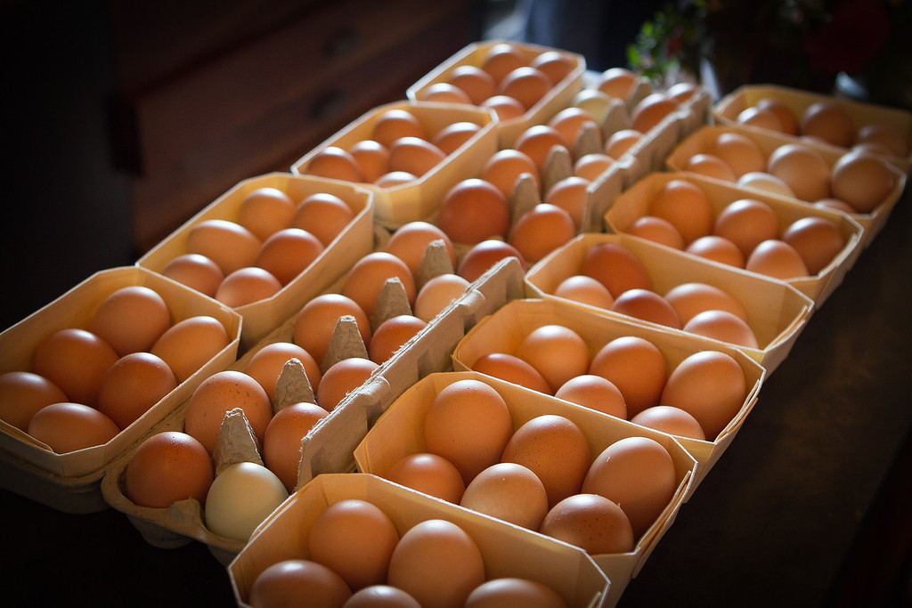 Eggs for brunch at Boulette's Larder in San Francisco, Calif., is seen on Sunday, October 2, 2011.