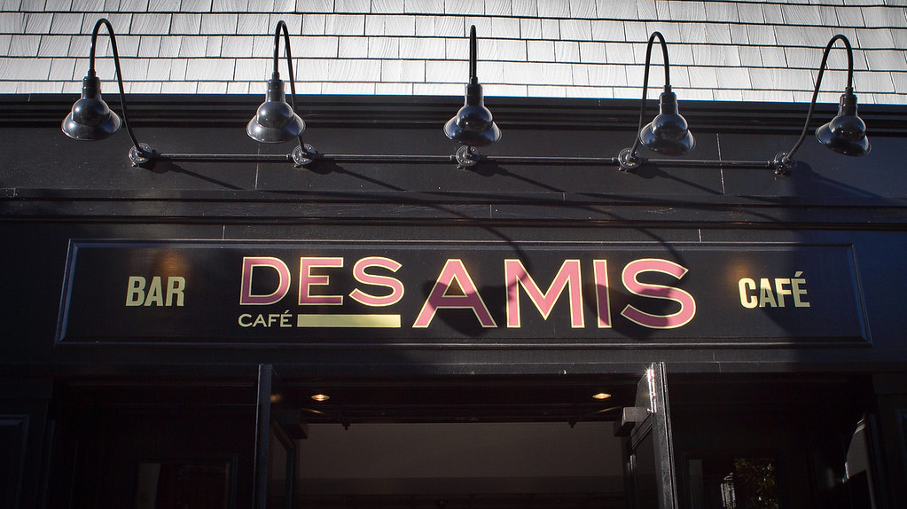 The exterior of Cafe Des Amis in San Francisco, Calif., is seen on Tuesday, November 1,  2011.