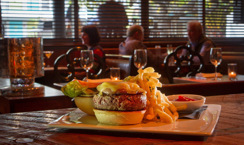 The Chamber's Burger at Chambers Eat + Drink restaurant in San Francisco, Calif., is seen on August 30th, 2011.