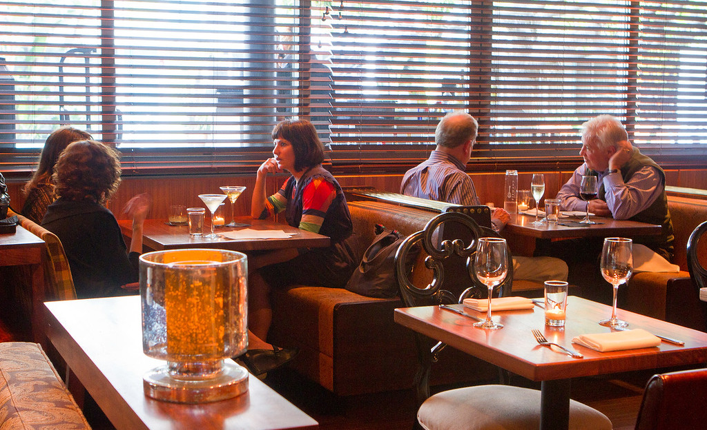 The dining room at Chambers Eat + Drink restaurant in San Francisco, Calif., is seen on August 30th, 2011.